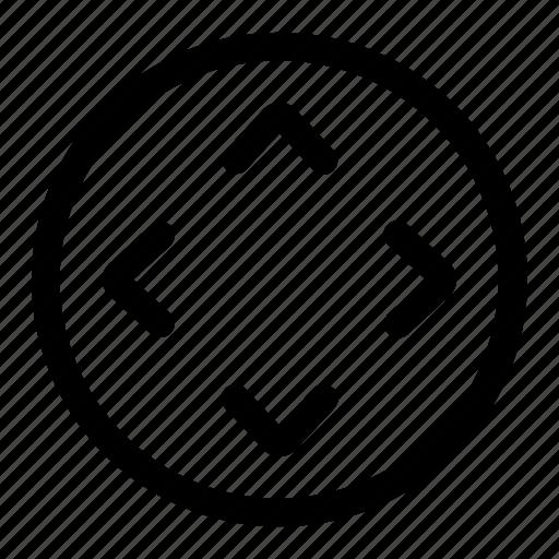arrow, controller, directions, joy, pad, track icon