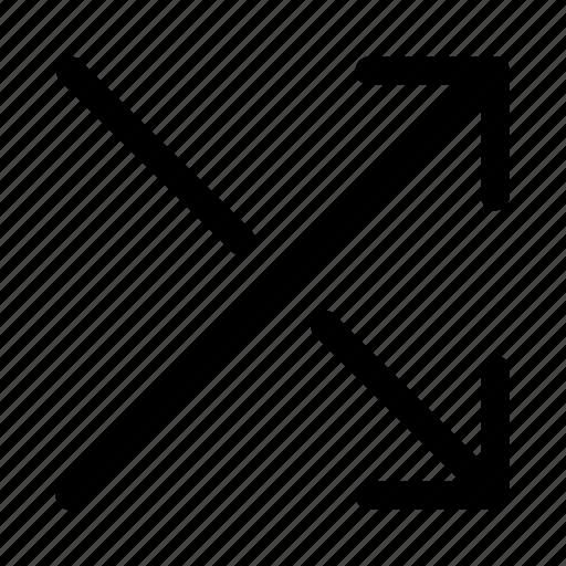 arrow, cross, down, shuffle, swap, up icon
