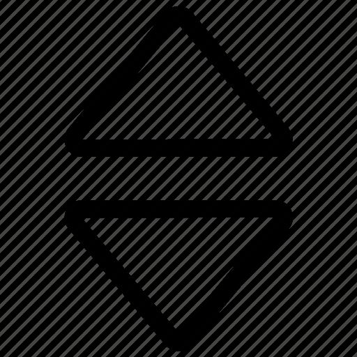 arrow, down, elevator, lift, up icon