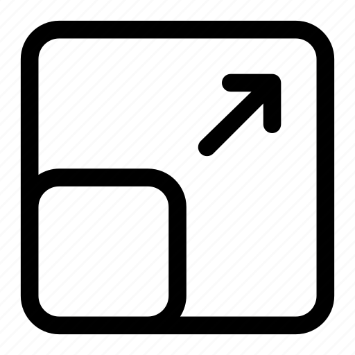 enlarge, resize, scale, screen, transform icon