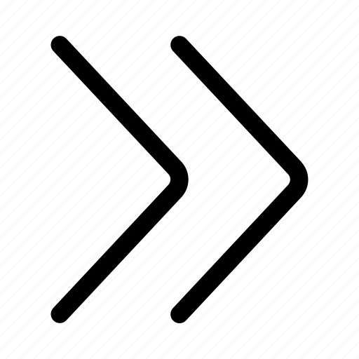 angular, arrow, direction, double, forward, right icon