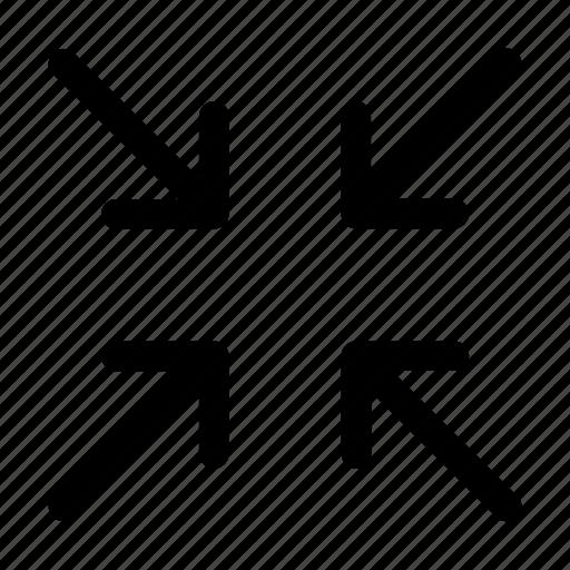 arrow, collapse, minimize, screen, shrink icon