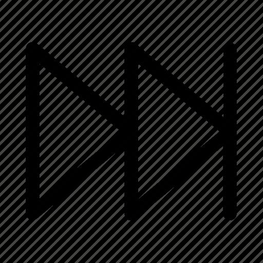 forward, media, move, next, step icon
