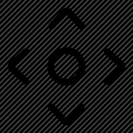 arrow, controller, game, joy, track icon