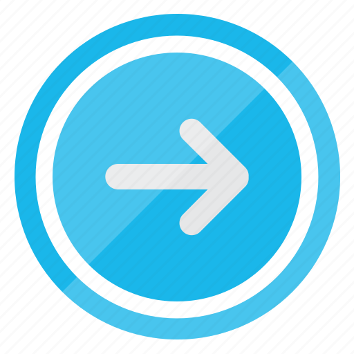 arrow, direction, move, right icon