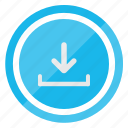 arrow, download, file, inbox icon