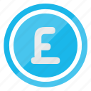 currency, ecommerce, financial, money, payment, pound icon