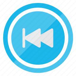 media, multimedia, player, rewind icon