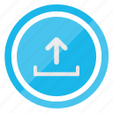 arrow, file, up, upload icon