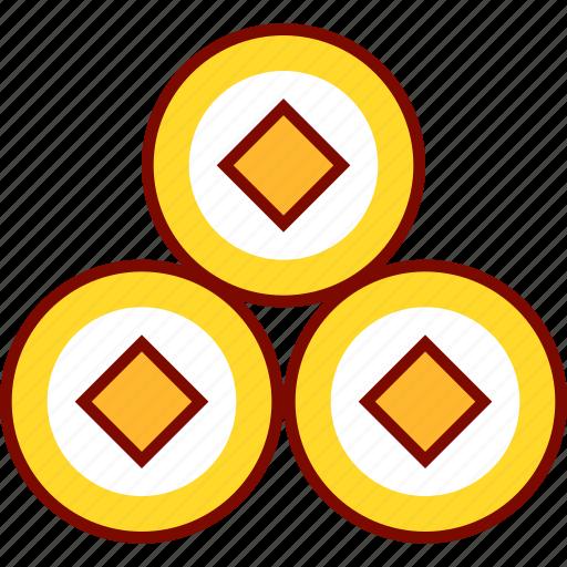 coin, lucky, lunar, money, prosperity icon