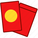 envelope, lucky, lunar, money, red icon