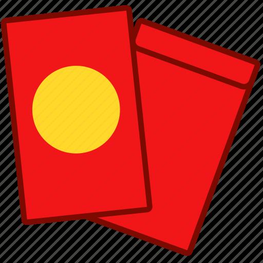 envelope, lucky, lunar, money, red icon