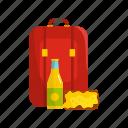 backpack, dinner, lunchbox