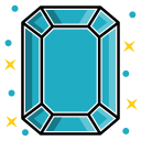 diamond, emerald, expensive, gem, gemstone, jewelry, stone icon