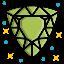 diamond, gem, luxury, sparkle, trillion, value, wealth icon