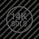 gold, 14k, jewelry, finance, metal, currency