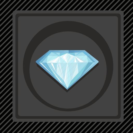 box, diamond, jewerly, presentation icon