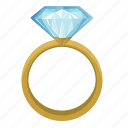 diamond, jewerly, luxury, ring icon