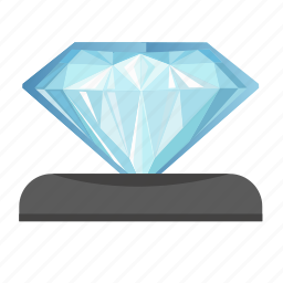 box, diamond, jewerly, presentation icon