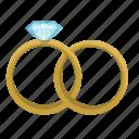 diamond, jewerly, rings, wedding