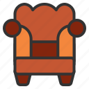 armchair, furniture, home, interior icon