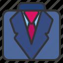 clothes, fashion, man, suit icon