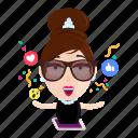 emoji, emoticon, luxury, media, social, sticker, woman