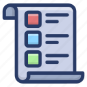 checklist, documents, list, plan list, task list, to do list icon