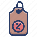discount symbol, percentage sign, percentage tag, price cut, promotion, sale, shopping discount icon