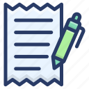 bill, invoice, itemized bill, receipt, statement icon