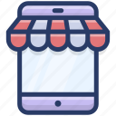 ecommerce, internet shop, mobile shop, online shop, online store icon