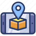 geolocation, gps, online direction, online location, online navigation icon