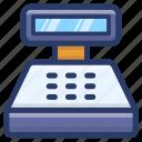 cash register, cash till, invoice machine, point of sale, pos, pos terminal icon