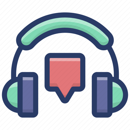 customer relationship service, headphones with chatbot, maintenance, service tools, technical support icon