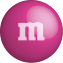 m&m, pink, chocolate, color, colour icon