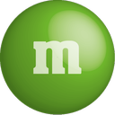 chocolate, color, colour, green, m&m icon