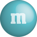 chocolate, color, colour, m&m, turquoise icon