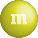 chocolate, color, colour, m&m, yellow icon