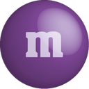 m&m, purple, chocolate, color, colour icon
