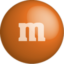 chocolate, color, colour, m&m, orange icon