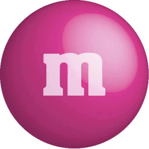 chocolate, color, colour, m&m, pink icon