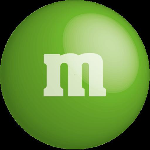 chocolate, color, colour, green, m&m icon