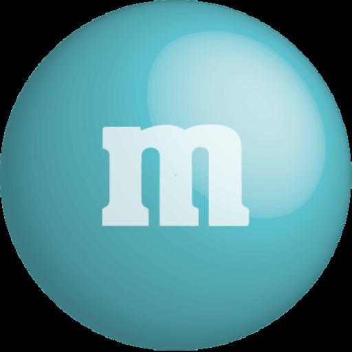 chocolate, color, colour, m&m, turquoise icon