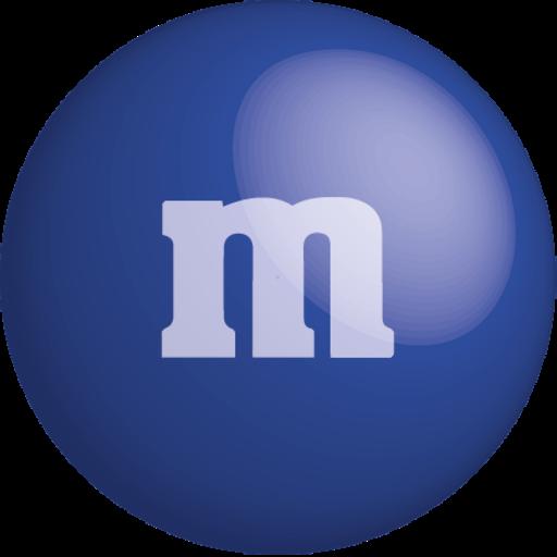 blue, chocolate, color, colour, dark blue, m&m icon