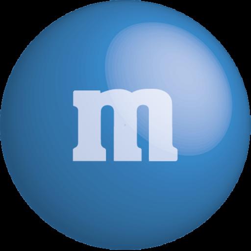 blue, chocolate, color, colour, m&m icon