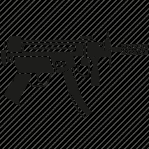 ammunition, army, automatic gun, machine gun, military, shot, weapon icon