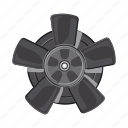 auto part, blade, car, cooling, fan, part, spare icon
