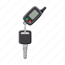 alarm, car, ignition key, key fob, part, spare icon