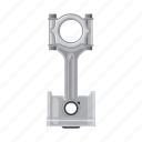 auto part, car, connecting rod, part, piston, spare icon