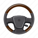 car, part, spare, steering wheel, wheel icon